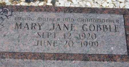GOBBLE, MARY JANE - Cochise County, Arizona | MARY JANE GOBBLE - Arizona Gravestone Photos