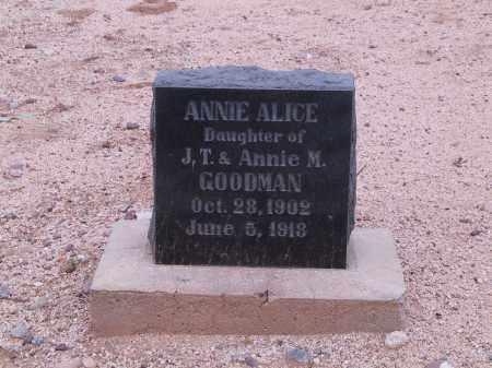 GOODMAN, ANNIE - Cochise County, Arizona | ANNIE GOODMAN - Arizona Gravestone Photos