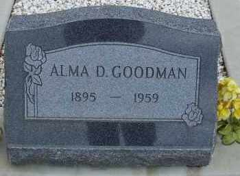 GOODMAN, ALMA D. - Cochise County, Arizona | ALMA D. GOODMAN - Arizona Gravestone Photos