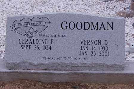 GOODMAN, VERNON D. - Cochise County, Arizona | VERNON D. GOODMAN - Arizona Gravestone Photos