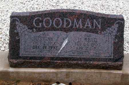 GOODMAN, JUSTINE E. - Cochise County, Arizona | JUSTINE E. GOODMAN - Arizona Gravestone Photos