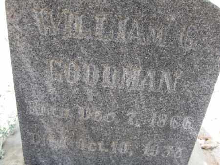 GOODMAN, WILLIAM G. - Cochise County, Arizona   WILLIAM G. GOODMAN - Arizona Gravestone Photos