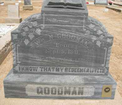 GOODMAN, WM. N. - Cochise County, Arizona   WM. N. GOODMAN - Arizona Gravestone Photos