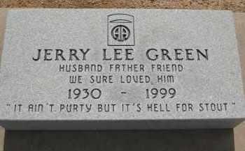 GREEN, JERRY LEE - Cochise County, Arizona | JERRY LEE GREEN - Arizona Gravestone Photos