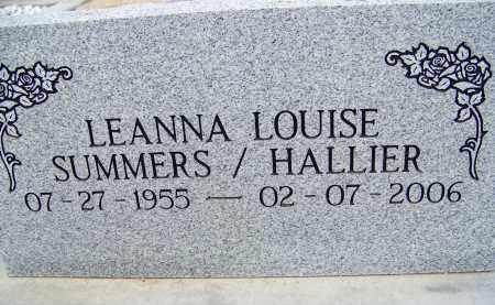 HALLIER, LEANNA LOUISE - Cochise County, Arizona | LEANNA LOUISE HALLIER - Arizona Gravestone Photos