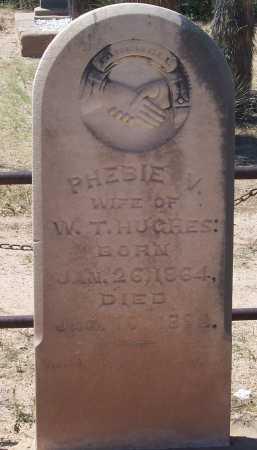 HUGHES, PHEBIA V. - Cochise County, Arizona | PHEBIA V. HUGHES - Arizona Gravestone Photos