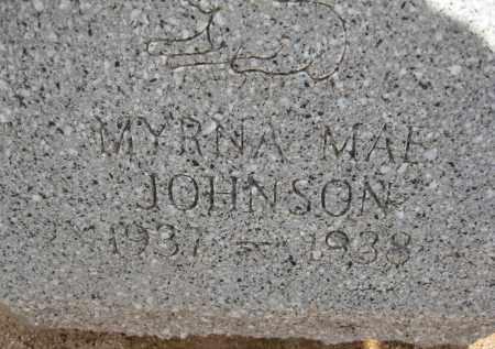 JOHNSON, MYRNA MAE - Cochise County, Arizona   MYRNA MAE JOHNSON - Arizona Gravestone Photos
