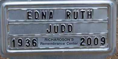 JUDD, EDNA RUTH - Cochise County, Arizona | EDNA RUTH JUDD - Arizona Gravestone Photos