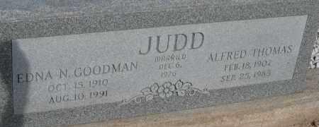 JUDD, ALFRED THOMAS - Cochise County, Arizona | ALFRED THOMAS JUDD - Arizona Gravestone Photos