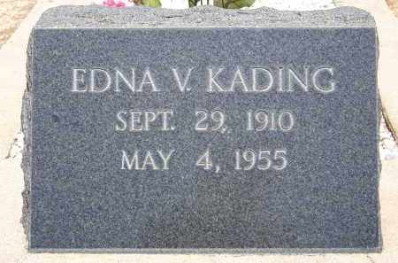 KADING, EDNA V. - Cochise County, Arizona | EDNA V. KADING - Arizona Gravestone Photos