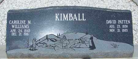 WILLIAMS KIMBALL, CAROLINE M. - Cochise County, Arizona | CAROLINE M. WILLIAMS KIMBALL - Arizona Gravestone Photos