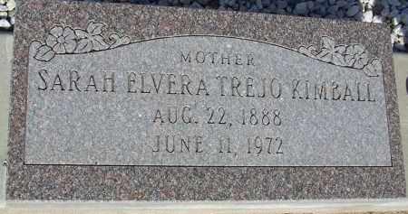 TREJO KIMBALL, SARAH ELVERA - Cochise County, Arizona | SARAH ELVERA TREJO KIMBALL - Arizona Gravestone Photos