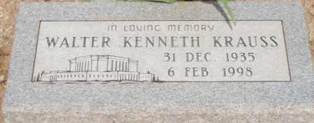 KRAUSS, WALTER KENNETH - Cochise County, Arizona | WALTER KENNETH KRAUSS - Arizona Gravestone Photos