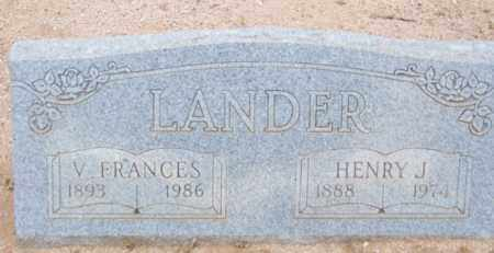 LANDER, V. FRANCES - Cochise County, Arizona | V. FRANCES LANDER - Arizona Gravestone Photos