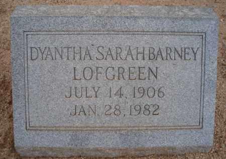 BARNEY LOFGREEN, DYANTHA SARAH - Cochise County, Arizona | DYANTHA SARAH BARNEY LOFGREEN - Arizona Gravestone Photos