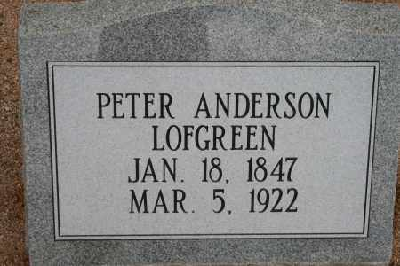 LOFGREEN, PETER ANDERSON - Cochise County, Arizona | PETER ANDERSON LOFGREEN - Arizona Gravestone Photos