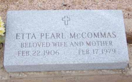 MCCOMMAS, ETTA PEARL - Cochise County, Arizona | ETTA PEARL MCCOMMAS - Arizona Gravestone Photos