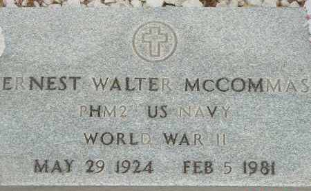 MCCOMMAS, ERNEST WALTER - Cochise County, Arizona | ERNEST WALTER MCCOMMAS - Arizona Gravestone Photos