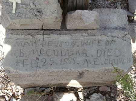 NELSON MCCULLAR, MATILDA - Cochise County, Arizona | MATILDA NELSON MCCULLAR - Arizona Gravestone Photos