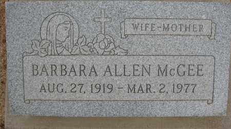 MCGEE, BARBARA ALLEN - Cochise County, Arizona | BARBARA ALLEN MCGEE - Arizona Gravestone Photos