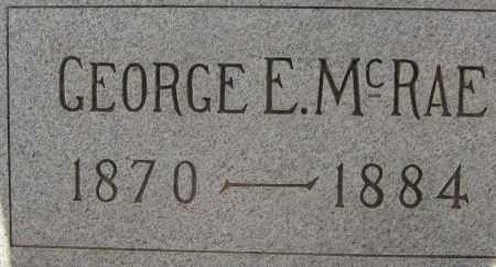 MCRAE, GEORGE E. - Cochise County, Arizona | GEORGE E. MCRAE - Arizona Gravestone Photos