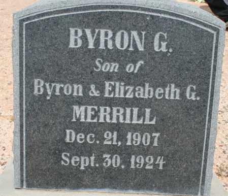 MERRILL, BYRON G. - Cochise County, Arizona   BYRON G. MERRILL - Arizona Gravestone Photos