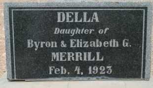 MERRILL, DELLA - Cochise County, Arizona   DELLA MERRILL - Arizona Gravestone Photos