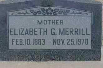 MERRILL, ELIZABETH G. - Cochise County, Arizona | ELIZABETH G. MERRILL - Arizona Gravestone Photos