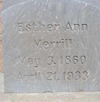 MERRILL, ESTHER ANN - Cochise County, Arizona | ESTHER ANN MERRILL - Arizona Gravestone Photos