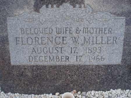 MILLER, FLORENCE W. - Cochise County, Arizona | FLORENCE W. MILLER - Arizona Gravestone Photos