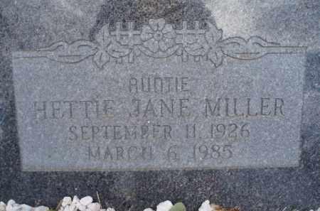 MILLER, HETTIE JANE - Cochise County, Arizona   HETTIE JANE MILLER - Arizona Gravestone Photos