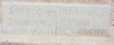 OWENS, SARAH - Cochise County, Arizona | SARAH OWENS - Arizona Gravestone Photos