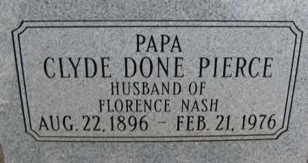 "PIERCE, CLYDE DONE ""PAPA"" - Cochise County, Arizona 