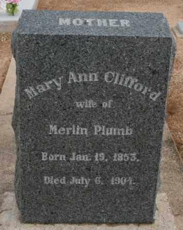 CLIFFORD PLUMB, MARY ANN - Cochise County, Arizona   MARY ANN CLIFFORD PLUMB - Arizona Gravestone Photos