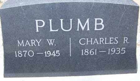 PLUMB, MARY W. - Cochise County, Arizona | MARY W. PLUMB - Arizona Gravestone Photos