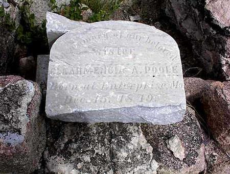 POOLE, CLEARMENCIA A. - Cochise County, Arizona | CLEARMENCIA A. POOLE - Arizona Gravestone Photos