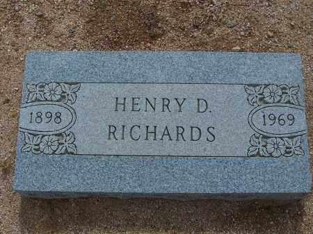 RICHARDS, HENRY D. - Cochise County, Arizona   HENRY D. RICHARDS - Arizona Gravestone Photos