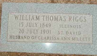 RIGGS, WILLIAM THOMAS - Cochise County, Arizona   WILLIAM THOMAS RIGGS - Arizona Gravestone Photos