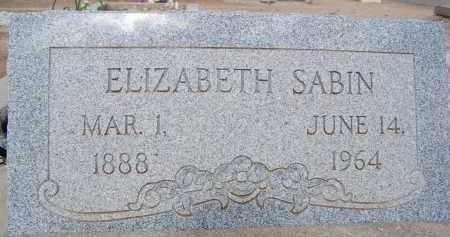 SABIN, ELIZABETH - Cochise County, Arizona | ELIZABETH SABIN - Arizona Gravestone Photos