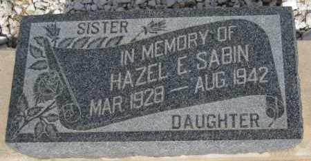 SABIN, HAZEL E. - Cochise County, Arizona   HAZEL E. SABIN - Arizona Gravestone Photos