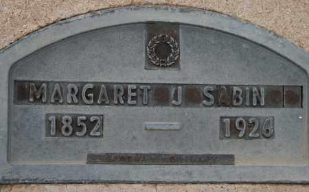SABIN, MARGARET J - Cochise County, Arizona | MARGARET J SABIN - Arizona Gravestone Photos