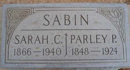 SABIN, PARLEY P. - Cochise County, Arizona | PARLEY P. SABIN - Arizona Gravestone Photos