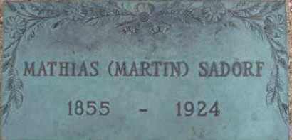 SADORF, MATHIAS (MARTIN) - Cochise County, Arizona | MATHIAS (MARTIN) SADORF - Arizona Gravestone Photos