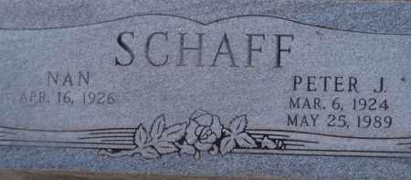 SCHAFF, PETER J. - Cochise County, Arizona | PETER J. SCHAFF - Arizona Gravestone Photos