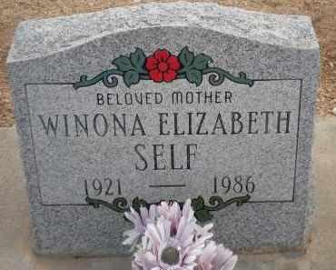 SELF, WINONA ELIZABETH - Cochise County, Arizona   WINONA ELIZABETH SELF - Arizona Gravestone Photos