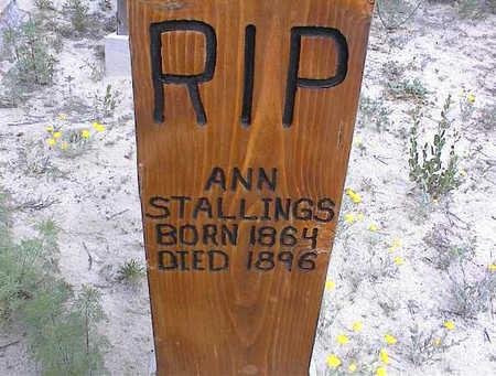 STALLINGS, ANNA - Cochise County, Arizona   ANNA STALLINGS - Arizona Gravestone Photos