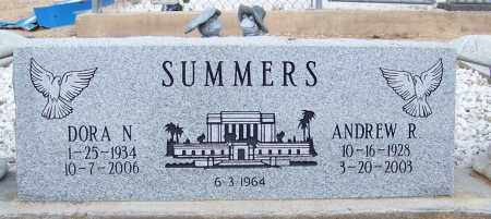 SUMMERS, DORA N. - Cochise County, Arizona | DORA N. SUMMERS - Arizona Gravestone Photos