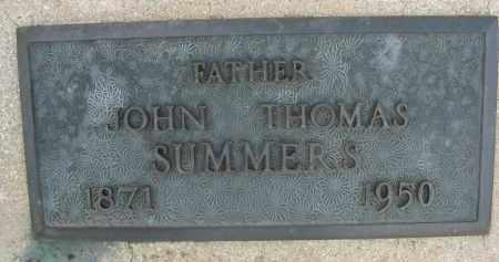 SUMMERS, JOHN THOMAS - Cochise County, Arizona | JOHN THOMAS SUMMERS - Arizona Gravestone Photos