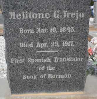 TREJO, MELITONE G. - Cochise County, Arizona | MELITONE G. TREJO - Arizona Gravestone Photos