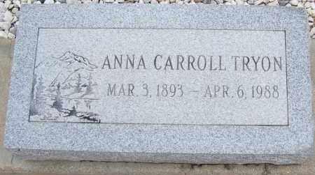 TRYON, ANNA CARROLL - Cochise County, Arizona   ANNA CARROLL TRYON - Arizona Gravestone Photos